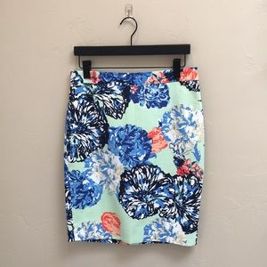 ⭐️sale⭐️ J.Crew The Floral Pencil Skirt in Cotton